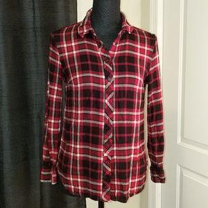 Talbots plaid shirt